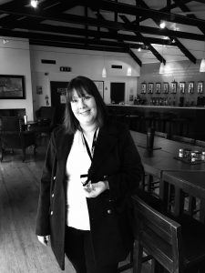 Lisa, after a tasting at Bowmore